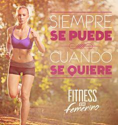 Siempre se puede cuando se quiere.  Fitness en femenino.