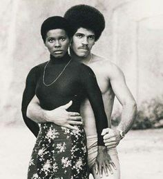 Black love. Black Power. Afros.- Jim Kelly and Gloria Hendry