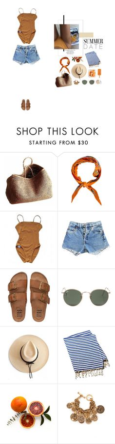 """""""#sandcastles"""" by nudenim ❤ liked on Polyvore featuring Topshop, NORO, Hermès, Eres, Levi's, Billabong, Ray-Ban, Ryan Roche, Turkish-T and Oscar de la Renta"""