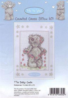 Schematic cross stitch Garland Daisies 1
