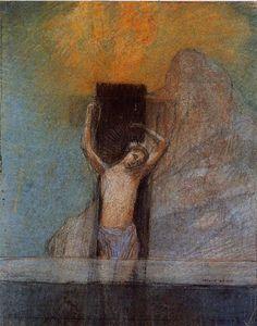 Christ on the Cross (1897) Odile Redon