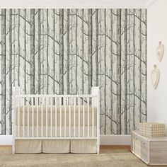 Papier peint - Cole and Son - Woods - White & Black