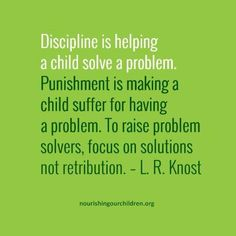 Why discipline is different from punishment (blog post)