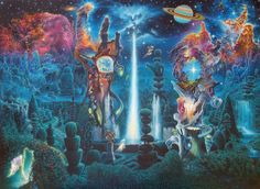 The Garden in the Valley of the Stars by James Lott McCarthy - VISIONARY ART EXHIBITION