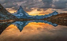 Matterhorn dramatic - Dramatic sunset at Zermatt!