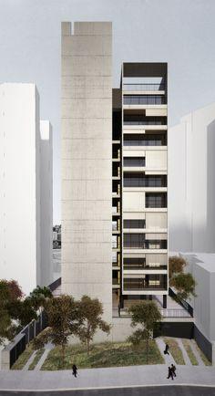 concrete metal balustrading  UNA Arquitetos