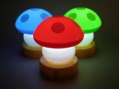 Mario Mushroom Lamp... boy's room?