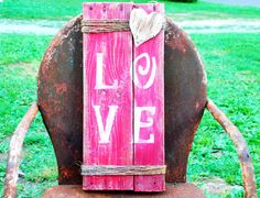 LOVE Sign Art Repurposed Recycled 100% Reclaimed Upcycle Pallet Wood Pallet Sign on Etsy, $24.99