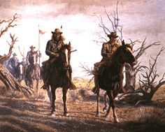 Reno's Collumn (A Crow scout leads Major Reno's troups headed for the little Big Horn by Gregory Perillo kp