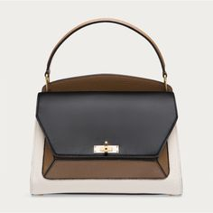 Shop the B-Loved top handle bag from Bally. Crafted from calf leather, this structured handbag with dual inner compartments features the unique B Turn lock Leather Purses, Leather Handbags, Womens Designer Bags, Leather Shoulder Bag, Shoulder Bags, Calves, Shoe Bag, Medium, Handle