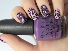 Nails by Kayla Shevonne: Nails of the Day - Purple Cheetah Print + Meet My New Friend!