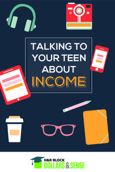 Talking to your Teen about Income by Lisa Carey of @moneysvgparent