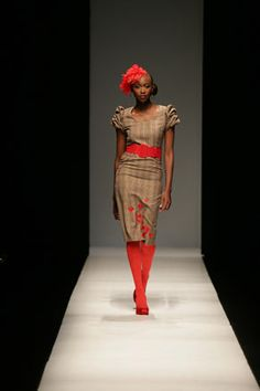 South-African designer Nkhensani Nkosi, has reportedly pulled out of the Africa Fashion Week which commenced today in Johannesburg, South Africa. Her brand Stoned Cherrie was slotted in for Friday evening but Nkhensani does not think showcasing her wo. African Inspired Fashion, Africa Fashion, Ethnic Fashion, African Design, African Style, African Dress, African Clothes, Fashion Fabric, Designer Collection