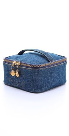 Vintage Chanel Denim Cosmetic Case WGACA Vintage Vintage Chanel Denim Cosmetic Case The post Vintage Chanel Denim Cosmetic Case appeared first on Beautiful Daily Shares. This could be made from recycled denim and have a dollar store mirror holder in the t Vintage Chanel, Vintage Denim, Makeup Bag Pattern, Best Cheap Makeup, Bag Sewing, Denim Handbags, Makeup Tools, Makeup Box, Makeup Products