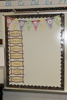 Cute Homework Board