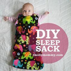 Sew an Easy Baby Sleep Sack tutorial plus free pattern to download!