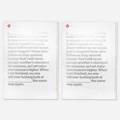 My design inspiration: Pledge Print Set of Two on Fab.