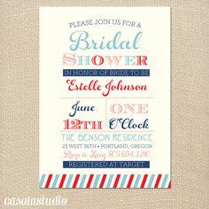 Chic Stripes Bridal Shower Invitation Printable by casalastudio, $15.00