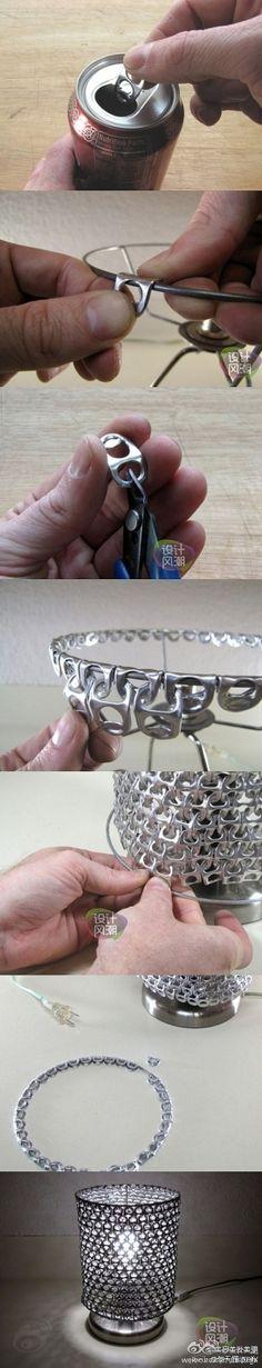 DIY ringpull lamp by StarMeKitten