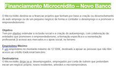 Financiamento Microcrédito - Novo Banco  Contacta-nos!