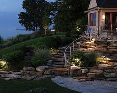 I'd go for adapting this for our slightly sloping front yard