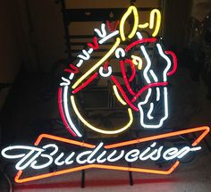 Budweiser Clydesdale Neon Sign 100 Authentic | eBay