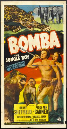 Bomba, the Jungle Boy (1949) was the first of a dozen Bomba films, based on a series of books.
