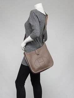 hermes evelyne pm bag etain grey epsom