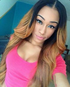 Ombre Middle Part Sew In | Color #39 & Blonde