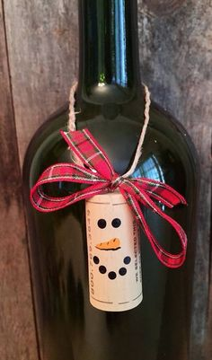 Items similar to Wine Cork Ornaments Cork Ornaments Snowman Cork Ornament Snowman Ornament Wine Lovers Gift Cookie Swap Favor Wine Gift Wine Gift Tag on Etsy Wine Bottle Gift, Wine Bottle Crafts, Wine Gifts, Wine Bottles, Wine Cork Ornaments, Snowman Ornaments, Christmas Ornaments, Christmas Tree, Snowmen