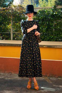 The return of the ditzy floral dress-I like! Ulyana Sergeenko_2012_0118