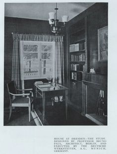 1926, House at Dresden - the study