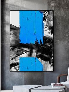 Large Painting, Oil Painting Abstract, Abstract Canvas, Knife Painting, Blue Painting, Watercolor Artists, Blue Abstract, Abstract Landscape, Painting Art
