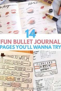 Fun BULLET JOURNAL LAYOUT pages to set up in your bullet journal. Find inspiration to keep up with hobbies with exciting movies to watch list tracker, books to read list tracker, music page playlist, tv shows tracker, gardening, sports, crafts, makeup and more. These bullet journal spreads will get enjoying more from your life! #bujo #bujoing #bulletjournal #bulletjournallove #bulletjournaladdict #bulletjournaljunkie #bujolove #bujoinspire #bujoinspiration #bujocommunity #bujojunkies