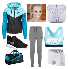 """""""Outfit #4"""" by allyssurrr ❤ liked on Polyvore featuring NIKE, workout, nike and dayatthegym"""