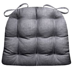 Rave Graphite Grey Patio Cushions & Indoor/Outdoor Dining Chair Pads