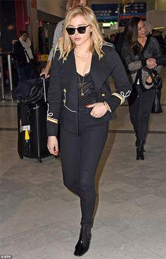 Isabel Marant Etoile Milford Navy Suits Jacket   http://www.celebstyle.us/chloe-grace-moretz/isabel-marant-etoile-milford-navy-suits-jacket/