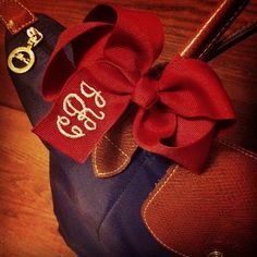 Monogrammed bow.....awkward moment when my picture is on Pinterest.