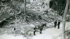 Le boulevard Saint-Aignan après les bombardements de septembre 1943