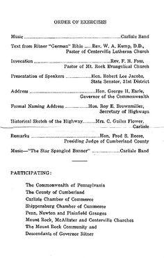 Governor Ritner Highway Program. Scan by Bart Ritner