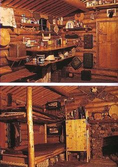 Dick Proenneke's cabin - counter and beds