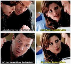 """""""Not since Sherlock Holmes"""" xD"""