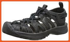 KEEN Women's Whisper Leather Sandal, Black/Raven, 5 M US - Sandals for women (*Amazon Partner-Link)