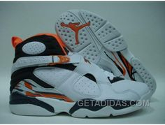 7ffe1809eac6 Air Jordan Retro 8 Black White Orange Offres Spéciales