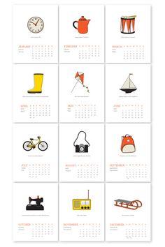 everyday objects calendar.