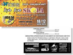 Bye Bye Skola - Extreme (Convite)