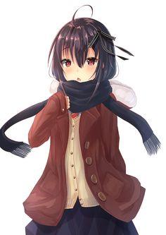 「コート娘」/「和羽@お仕事募集中」のイラスト [pixiv] #オリジナル #制服 #セーター