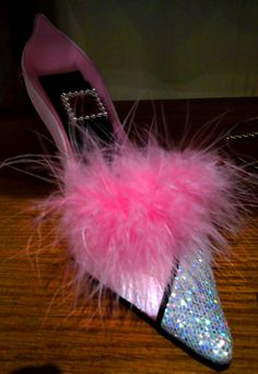 Women 39 s sexy high heel fur slippers open toe slide 3 5 - Ladies bedroom slippers with heel ...