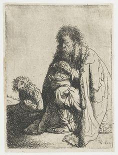 Bedelaar gezeten met zijn hond, Rembrandt Harmensz. van Rijn, 1631