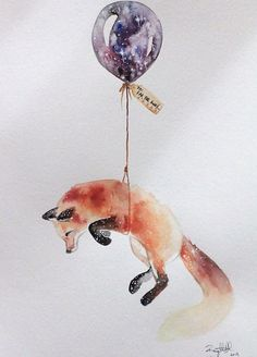 Fox on balloon describing intelligence and ploys.